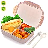 Bento Lunch Box for Kids & Adults, SIPU Leakproof and Shockproof Lunch Containers with Extra 2...