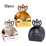 50PCS Eid Mubarak Geschenkboxen Ramadan Mubarak Geschenkboxen Golden Candy Schokoladenbox...