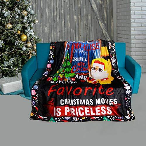 SKOLOO Flanell-Fleece-Überwurfdecke, Weihnachtsbaum, warm, gemütlich, weich, für Fernseher, Bett, Couch, Kuscheldecke, Mikrofaser, Samt, Plüsch, Heimdekoration, Geschenk, für Kinder, 127 x 152,4 cm