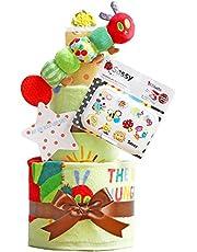 はらぺこあおむし おむつケーキ 出産祝い 名入れ刺繍 3段 Sassy ビタット Bitatto オムツケーキ 男の子 女の子 ERIC CARLE エリックカール