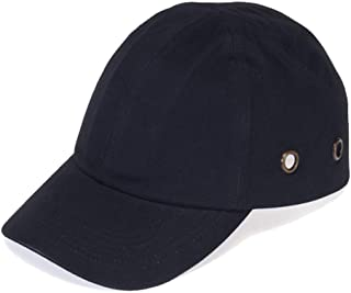 Black Baseball Bump Cap - Lightweight Safety Hard hat Head Protection Cap