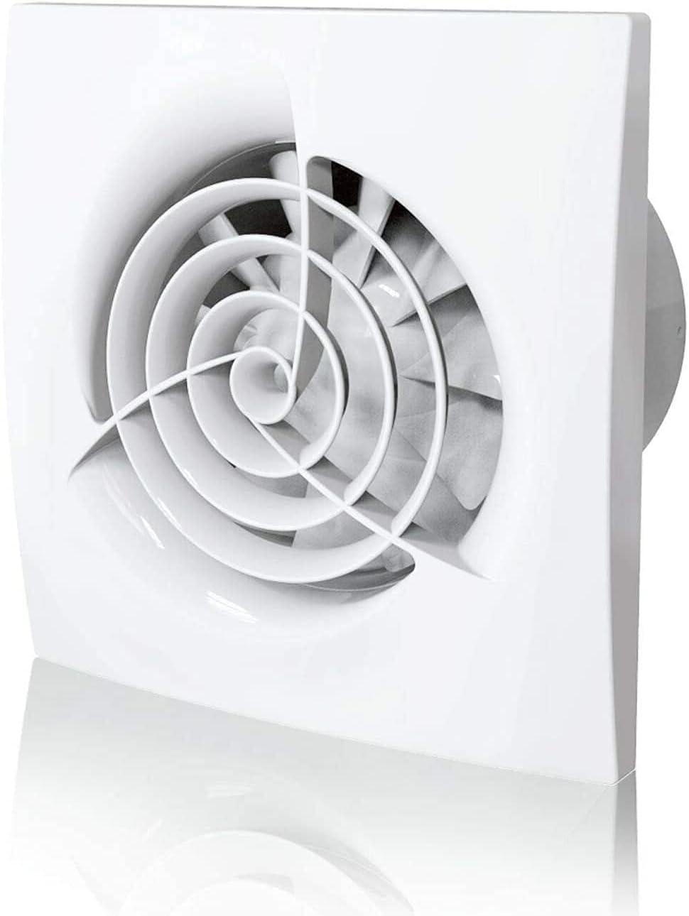 Extractor Cocina, Extractor de Baño 100 Mm Fácil De Instalar El Ventilador De Extractor De Baño De 4 Pulgadas De 4 Pulgadas Pared De Ducha Y Ventilación Montada En El Techo Control De Ambiente Húmedo