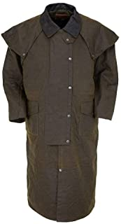 Outback Trading Co Men`s Co. Stockman Oilskin Duster - 2056 Ftn
