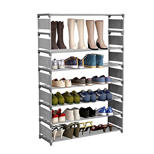 Hosmat 8-Tier Free Standing 32-Pair Shoe Tower Organizer Now $25.99