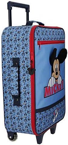 Disney Mickey Moods Maleta de Cabina Rojo 35x50x16 cms Blanda Poli/éster 25L 1,8Kgs 2 Ruedas Equipaje de Mano