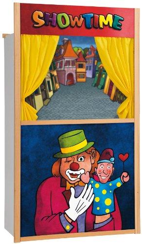 Eichhorn 100002585 Jouet Punch-and-Judy Théâtre marionnettes en Bois (Non incluses) 110 x 64 cm
