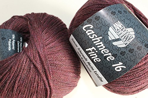 lana Grossa-Cashmere 16 Fine-FB 15 gris claro 50 G Lana creativo