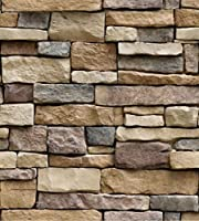 45cmx100cmホームインプルーブメント自己接着壁紙レンガ石木材織り目加工3Dリビングルームストアと理髪店のための壁紙-IN-1007。_45cmx100cm