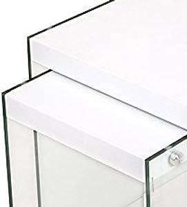 Cribel Pocket Scrivania, Legno Multistrato/Vetro Temperato, Laccato Bianco, 120x80x76 cm