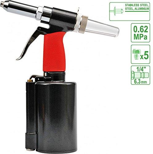 Druckluft Nietpistole Blindnietpistole Nietgerät Nietzange Nieten 2,4-6,4 mm Blindnietgerät pneumatisch Nietzange