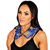 Nature's Approach Neck Wrap with Herbal Aromatherapy Fill Freezer Safe and Microwavable for Hot and Cold Therapy, Celestial Indigo, one size