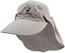 Trident Long Bill Shark Sun Hat, Tan
