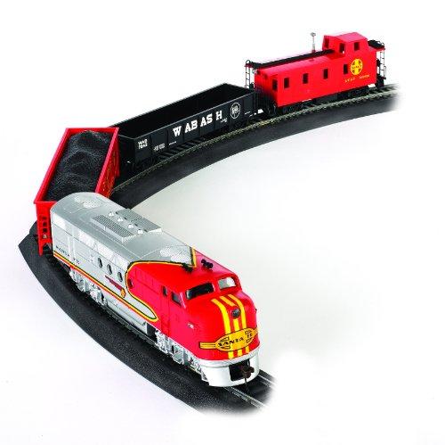 Bachmann Trains - Santa Fe Flyer Ready To Run Electric Train Set - HO Scale Multicolor, 19.50 x 3.00 x 13.25 Inches