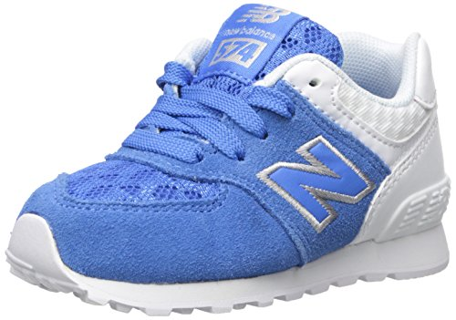 New Balance New Balance KL574V1 Infant Breathe Pack Fashion Sneaker (Infant/Toddler), Blue/Grey, 17 W EU