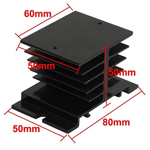 Blue Sky the Color of Imagination RilexAwhile Aluminum Heat Sink for Solid State Relay SSR Radiator Module Black for 10A-40A