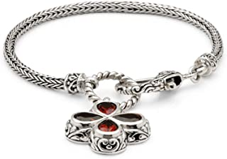 Silver Bracelet with Tiny chain and Bloody Leaf for Women and Halloween Gift, Size 7 Inches
