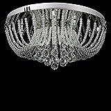 Dst Exquisit Rund Regen Tropfen Kristall Beleuchtung Hängende Lampen Kronleuchter für Esszimmer Wohnzimmer Schlafzimmer Arbeitszimmer D50cm H20cm