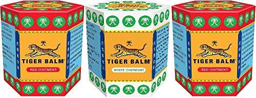 2 X Tiger Balm Red 21g + 1 X Tiger Balm White 21g (Paquete de 3)