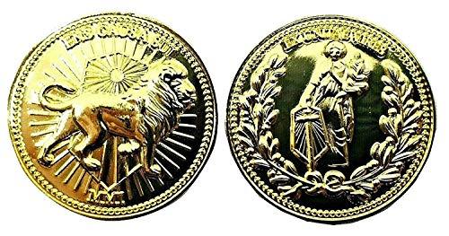 Película Utilería Cosplay 22k Chapado Monedas John Wick Baba Yaga The Boogeyman Token Sólido Metálica Oro Tono 3D (One Suministrado) 30mm x 3mm en Estuche Protector