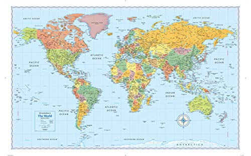 Signature Edition World Wall Map - Folded -  Rand McNally
