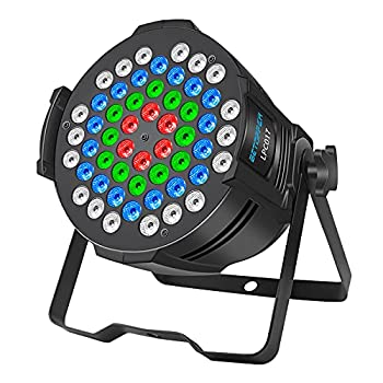 BETOPPER DJ Lights Stage Lights 54x3W RGB 3-in-1 LED Lighting Sound Activated for Parties DMX Washing Uplight for Church,Wedding,Parties,Music Live Show Gigs,Club Events