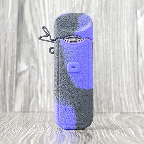 CEOKS for Smok Nord Silicone Case, Anti-Slip Protective Silicone Case Skin Rubber Cover for Smok Nord Mod Box Rubber case wrap Shield (Purple/Black)