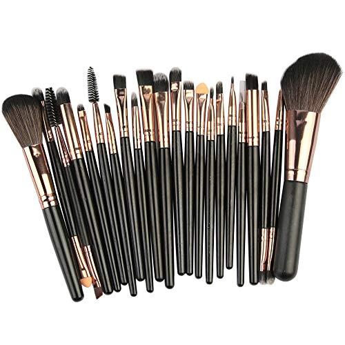 Lot De 22 Pcs Pinceau Maquillage Professionnelle jkhhi, Multifonctionnel Bross Pinceaux Poudre,Correcteur, Ombreur, Fards à PaupièRes,Blush Pinceau Convient Aux DéButants