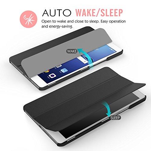 MoKo Huawei MediaPad M3 8.4 Hülle - Ultra Slim Lightweight Schutzhülle Smart Cover Standfunktion für Huawei MediaPad M3 8.4 2016 Tablet-PC perfekt geeignet, Schwarz - 6