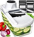 Fullstar Mandoline Slicer Vegetable Slicer and Vegetable Grater - Potato Slicer Food Slicer Veggie Slicers Mandoline Slicer Cutter Grater - Veggie Slicer Onion Slicer Fruit Slicers for Fruits