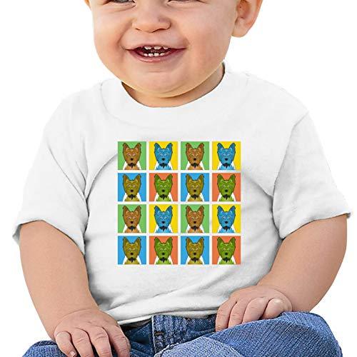 Yorkie Pop Art - Camiseta para bebe con diseno de perro, camisetas de manga corta, mono, ropa para gatear