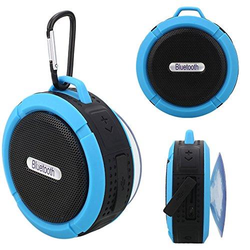 Haihuic Altoparlanti per Doccia Altoparlanti Portatili Impermeabili di Bluetooth con Mic Suction Cup per Indoor Outdoor