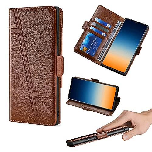 HUAYIJIE GKLTCK Flip Funda para ASUS Rog Phone 2 Funda Carcasa Case Cover [marrón]