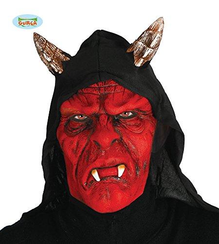 Máscara de Demonio roja con capucha