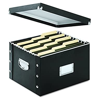 Snap-N-Store File Box, Letter/Legal Size, Glossy Black (SNS01536)