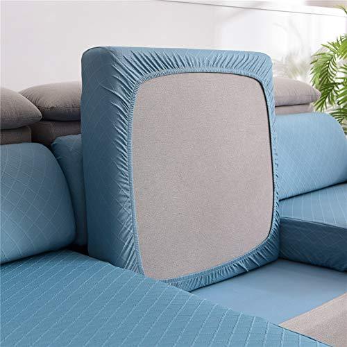 YTRZSW Fundas de cojín de sofá, funda de cojín de sofá, funda protectora de asiento de sofá, funda elástica de tela jacquard (azul, sillón)