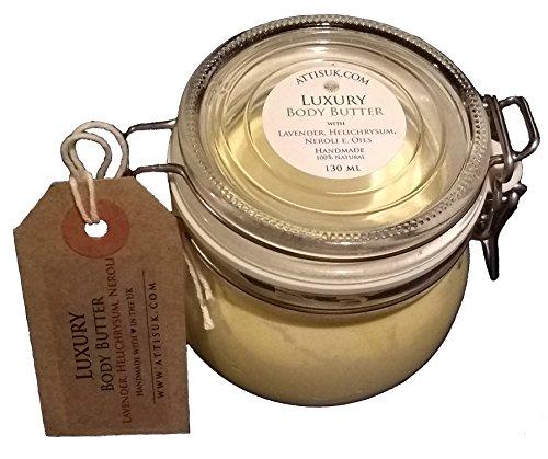 Attis lujo cuerpo mantequilla con aceites esenciales de lavanda, Helichrysum y azahar | vegana, | | | hidratantes rehidratar | crema de manos | crema facial | hecho a mano | Natural