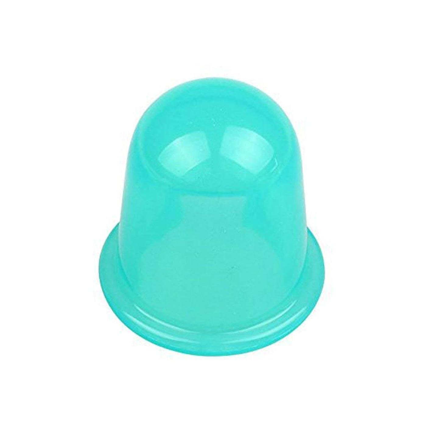 注文動物園対立耐久性のある水分吸収体アンチセルライト真空カッピングカップデバイスフェイシャルボディマッサージセラピーシリコーンカッピングカップ - グリーン