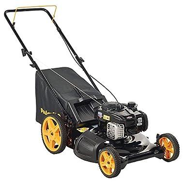 Poulan Pro 961320098 PR550N21RH3 Briggs 550ex Side Discharge/Mulch/Bag 3-in-1 Hi-Wheel Push Mower in 21-Inch Deck, 11-inch wheels