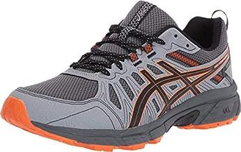 ASICS Men's Gel-Venture 7 Running Shoes, 10.5, Carrier Grey/Habanero