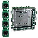 Bird-X Ultrason X Ultrasonic Bird Repeller, 4-Speaker Professional System Covers 3,600 sq ft Coverage