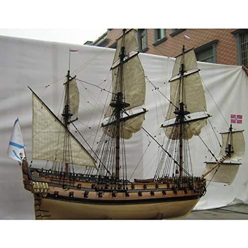 YAOHM Modelo a Escala 1/50 clásico Modelo de Barco de Vela de Madera Kit Ingermanland Modelo de Barco de Madera