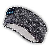 Cuffie Bluetooth con archetto per dormire: archetto sportivo wireless, auricolare super morbido, altoparlanti stereo integrati, per sport / yoga / sonno / meditazione (grigio)