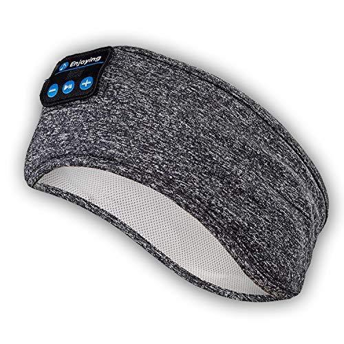 Cuffie Bluetooth con archetto per dormire: archetto sportivo wireless, auricolare super morbido, altoparlanti stereo integrati, per sport   yoga   sonno   meditazione (grigio)