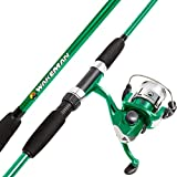 Wakeman Swarm Series Spinning Rod and Reel Combo - Green Metallic