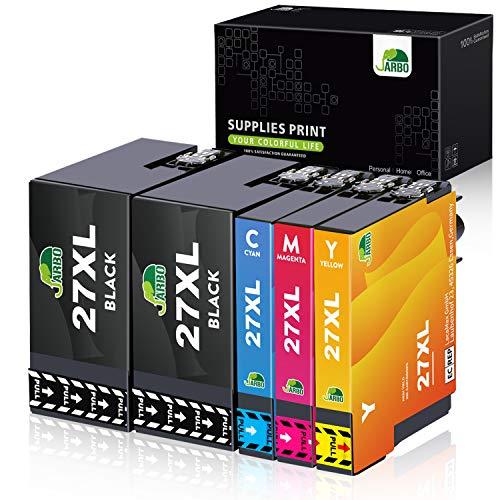 JARBO 27 XL Druckerpatronen Ersatz für Epson 27XL Multipack Tintenpatronen Kompatibel mit Epson Workforce WF-3620 WF-3640 WF-7110 WF-7210 WF-7610 WF-7620 WF-7710 WF-7715 WF-7720