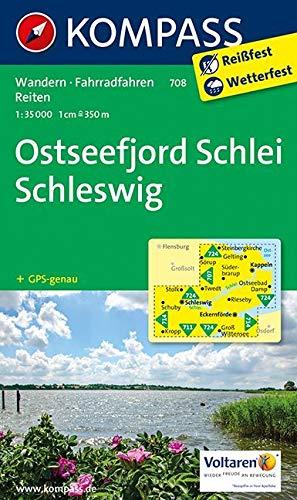KOMPASS Wanderkarte Ostseefjord Schlei, Schleswig: Wanderkarte mit Radrouten und Reitwegen. GPS-genau. 1:35000 (KOMPASS-Wanderkarten, Band 708)