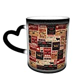 Oaieltj Lustige wärmewechselnde Tassen, BBQ personalisierte wärmeempfindliche Farbwechseltasse...