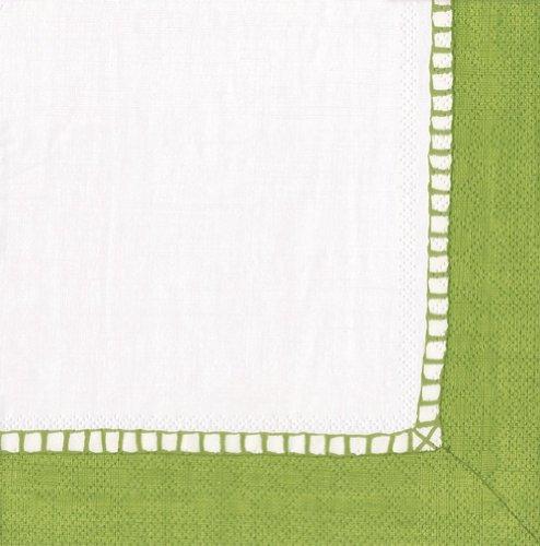 Caspari Entertaining - Tovaglioli di Carta, 20 Pezzi, Colore: Verde Chiaro