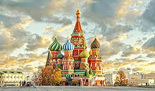 VGSD Rompecabezas para Adultos De 1000 Piezas, Catedral De San Basilio Kremlin De Moscú, Ensamblaje De Madera, para Un Gran Regalo Educativo para Niños