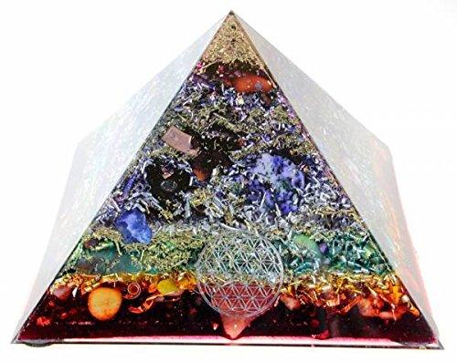"Panotophia Orpanit® Orgonit 7 Chakren Cheops ""Regenbogen"" Pyramide XXL 5G"
